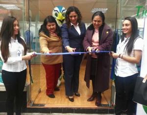 Clementina Guerrero, Alejandra Aguilar y Sara Ladrón de Guevara en la reinauguración