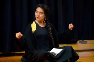 La actriz chilena, especialista en voz