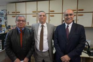 Jesús Escudero, Luis Alberto Delfín y Juan Manuel Ortiz