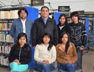 Los alumnos de la LGID con autoridades de la Vicerrectoría