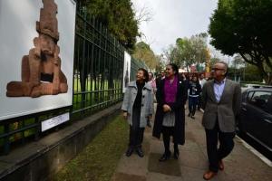 Maura Ordóñez, Sara Ladrón de Guevara y Heriberto Meili