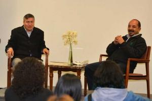 """Mario Miguel Ojeda y Miguel Ángel Casillas en """"Martes de Lectores y Lecturas"""""""