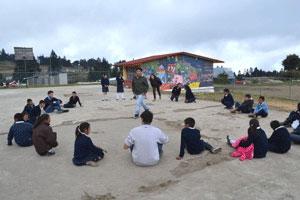 Impartieron diversos talleres a niños de la comunidad