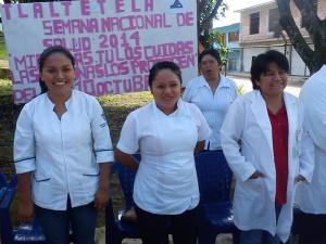 La universitaria apoyó al Centro de Salud de Tlaltetela