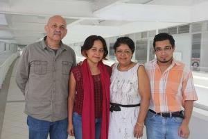 Juan Carlos Ortega, Janeth Tello, Luz del Carmen Rivas y Adrián Ruiz