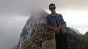 El joven visitó el peñón de Gibraltar