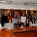"""Los jóvenes seleccionados por """"Proyecta 100 Mil"""" visitaron a la Rectora"""