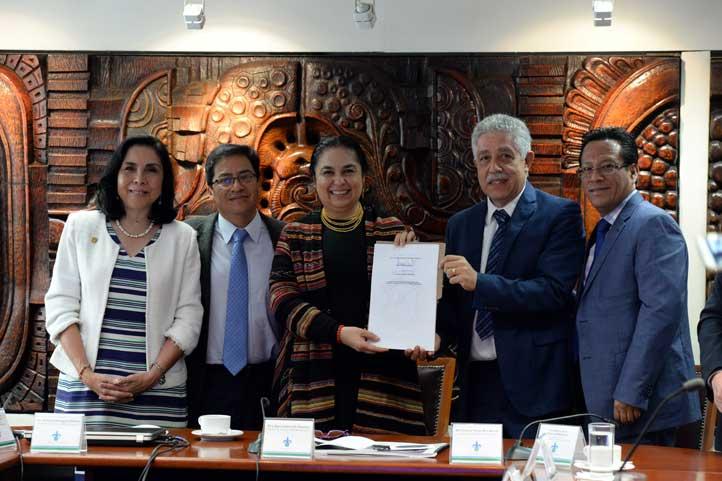 Beatriz Rodríguez, Esteban Rodríguez, Sara Ladrón de Guevara, Tomás Ríos y Luis García