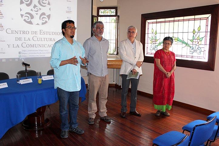 Alfonso Colorado, Homero Ávila, José Luis Martínez y Esther Hernández inauguraron las jornadas
