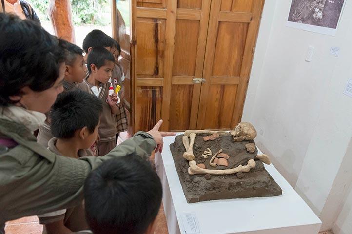 Los asistentes aprendieron sobre el quehacer arqueológico