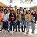 Los alumnos participantes con la académica Elvira Morgado Viveros