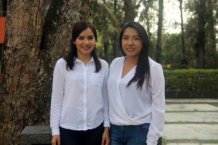 Montserrat González y Grecia Córdoba