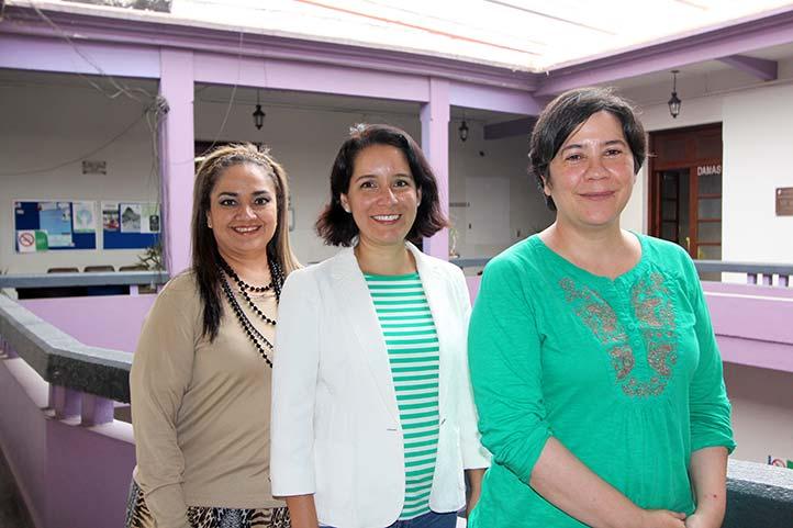 Guadalupe Aurora Maldonado, Elizabeth Ocampo e Irma Alicia García