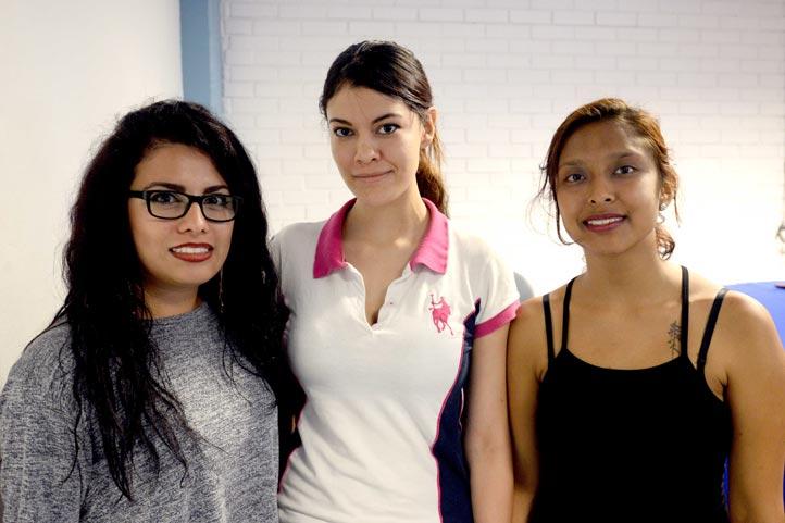 Gabriela González, Cecilia García y Bárbara Bravo
