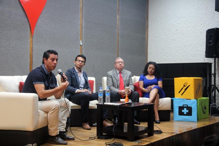 Víctor Manuel Martínez, Andrés Cancino, Pedro Redondo y Reyna Hernández