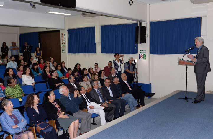 """Aspecto de la conferencia """"Educación en Iberoamérica, perspectivas de la agenda 2030"""""""