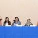 Virginie Thiébaut, Silvia Méndez, Filiberta Gómez, Carmen Blázquez y Yovana Celaya