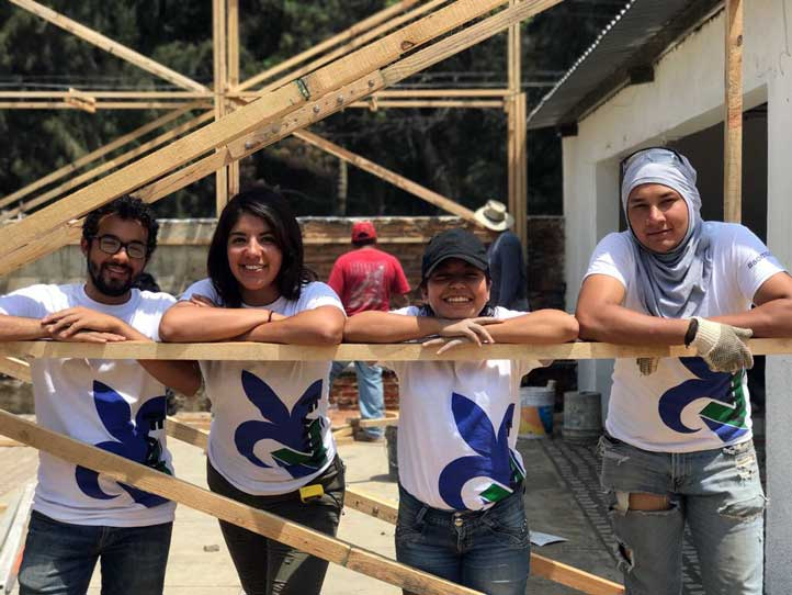 Augusto, Indira, Diana y Alfredo participaron en el Taller Integral Nacional
