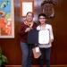 La Rectora felicitó al universitario