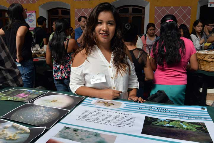Sandra Lizbeth Enríquez busca combatir la roya del café