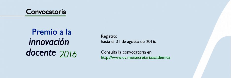 Convocatoria premio a la innovaci n docente uv intercultural for Convocatoria docente 2016