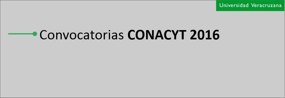 convocatoria conacyt 2016