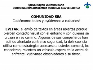AVISO DE SEGURIDAD