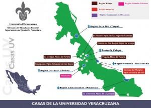 Ubicación geográfica de las Casas de la Universidad