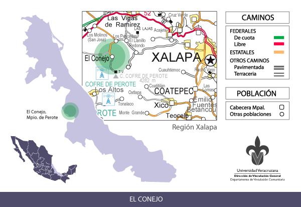 Localización De Una Casa En El Mapa: Casa De La Universidad «El Conejo»
