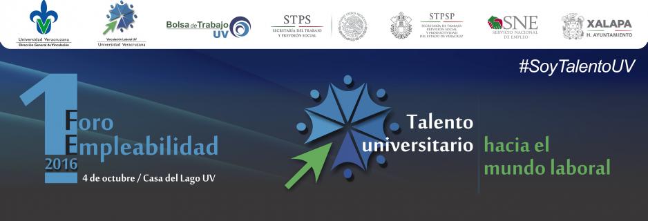 """4 de octubre el 1er Foro de Empleabilidad """"Talento universitario hacia el mundo laboral"""" en la Casa del Lago, a partir de las 9:00 horas."""